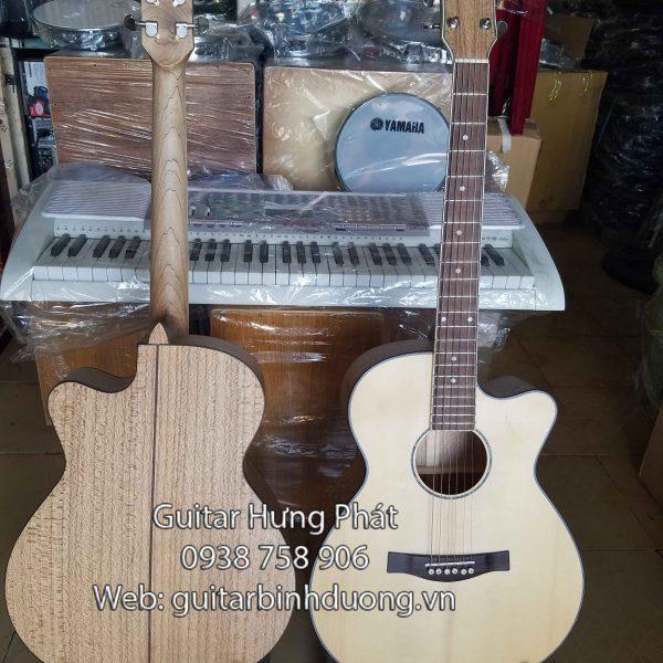 đàn guitar gỗ sồi bông tại bình dương